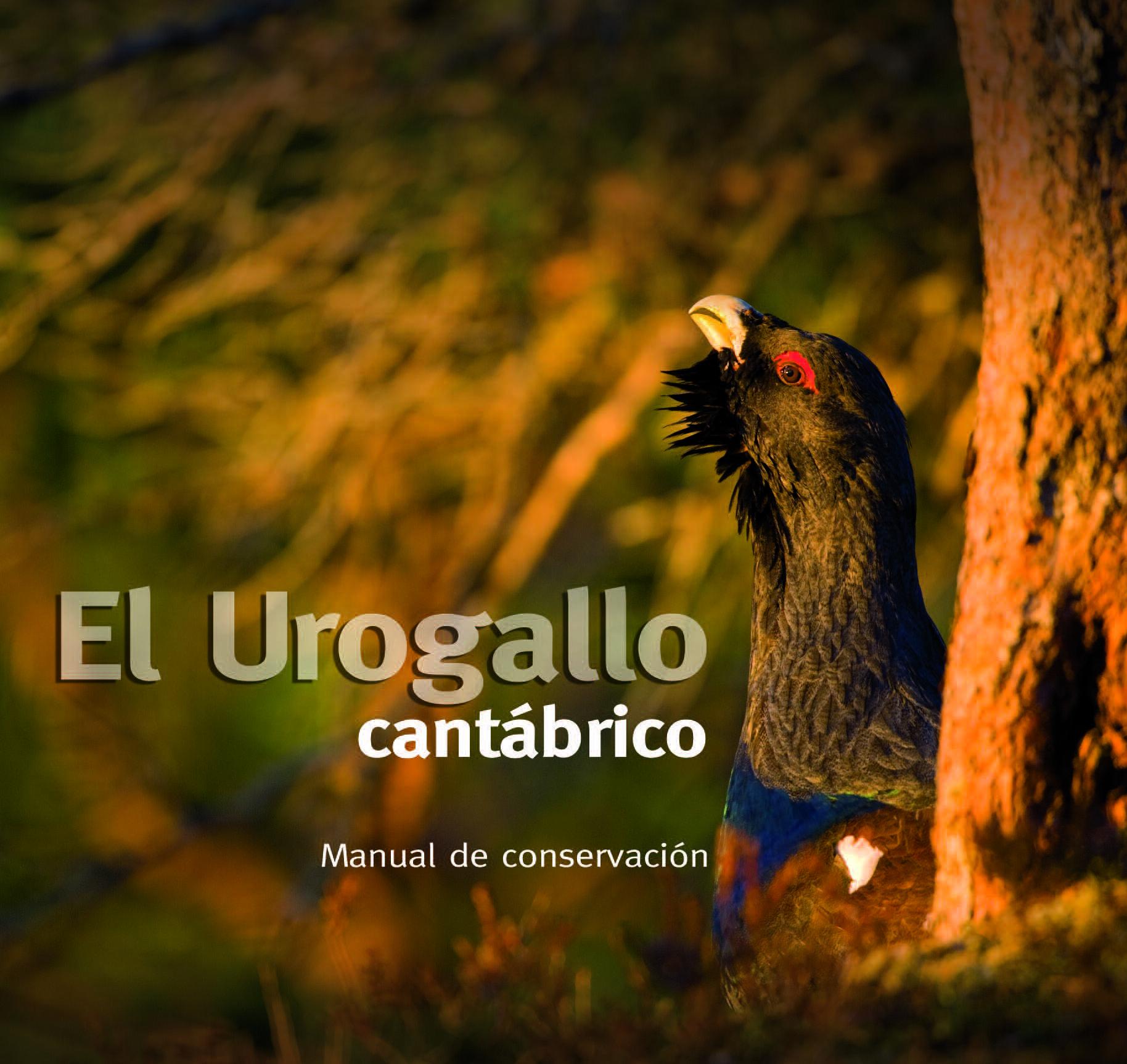 Portada del manual para la conservación del urogallo cantábrico de SEO/BirdLife